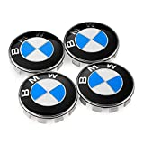 Enseng Set van 4 - BMW Wiel Center Caps Emblem, 68mm BMW Rim Center Hub Caps voor Alle Modellen met BMW Wielen Logo Blauw & Wit Kleur