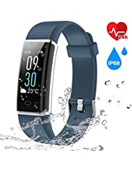 Smart Technic Fitness Tracker, Color Screen ActivityTracker with IP68 Waterproof for Shower, 14 Sports Modes,GPS tracker, Intelligent Notification, Pedometer for Men,Women,Children for iOS Android