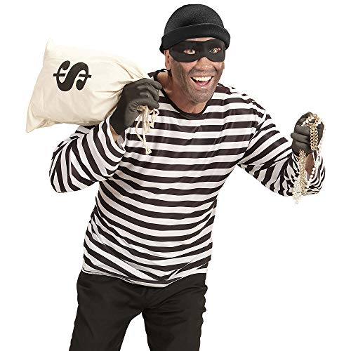 Kostüm Bankräuber - WIDMANN 07419 Erwachsenenkostüm Bankräuber Herren Weiß/Schwarz M/L