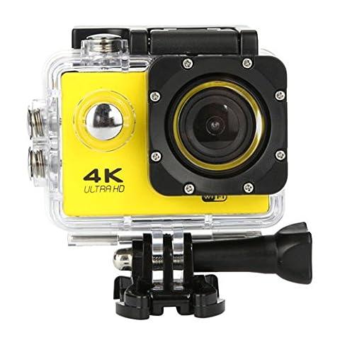 OverDose Wasserdichte 4K SJ60 Wifi HD 1080P Ultra Sports Action Kamera DVR Cam Camcorder (Yellow)