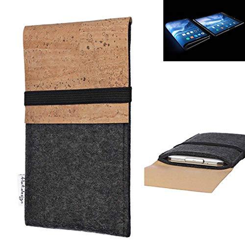 flat.design Handy Hülle SAGRES für Royole FlexPai Made in Germany Handytasche Filz Tasche Schutz Case fair Kork