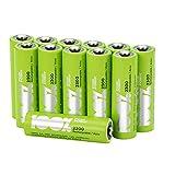 100% PeakPower Akku Batterien AA / Mignon, NiMH Technologie, 12 Stück wiederaufladbar, 1,2 Volt (1,2V), 2300mAh, LSD Technologie, Ready-to-Use - Akkus bereits vorgeladen, sofort nutzbar