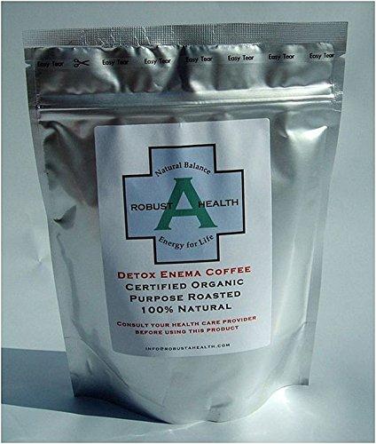 RobustaHealth Entgiftungstherapie mit Kaffee-Einlauf, 464g, Bio-zertifiziert, 100% natürlich, ausschließlich vom Gerson-Gesundheitszentrum in Europa verwendet.