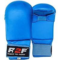 R2F Sports WKF PU Sans Pour Autant Pouce Karate Mitts Arts Martiaux MMA Muay Thai Sparring Entraînement Gants