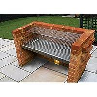 SunshineBBQs Kit de barbacoa de ladrillos de acero inoxidable extra grande 112 cm x 40 cm