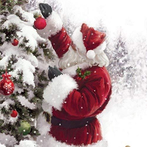 Carte de Noël musicale Père Noël et Tree. ouvrir une carte de v?ux et entendre 15?20 secondes Hark the Herald Angel sung Par le Choir Chichester de Cathedral