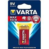 Varta Max Tech 9V Block 6LR61 Batterie (1er Pack) Alkaline E Block Batterien