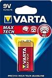 Varta Max Tech Batterie 9V Block Alkaline Batterien...