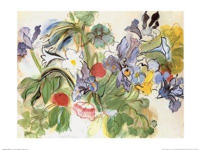 lamina-rosas-e-iris-de-raoul-dufy-tamano-80-x-60-cm