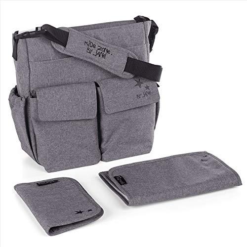 janè Bolso cambiador Mama Bag Jet Black (gris)