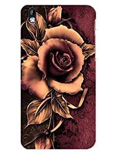 HTC 816 Back Cover - Mesmerizing Rose - Just For You - Designer Printed Hard Shell Case