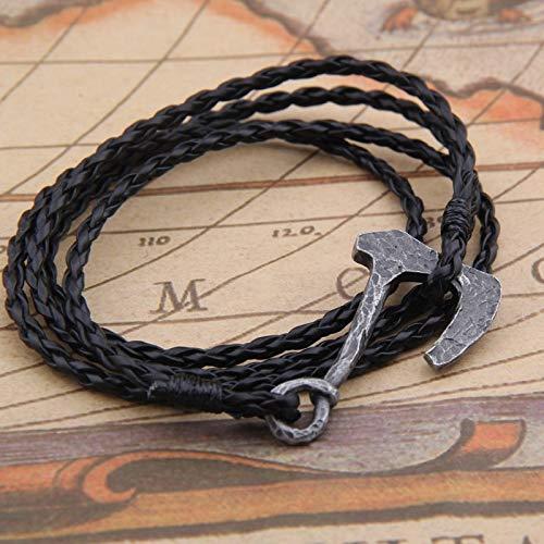 Männer Halskette Skandinavischen Wikinger Armband Odin 'symbol Der Nordischen Wikinger Thor Hammer Krieger Slawischen Norwegen - Krieger Kleidung Tragen