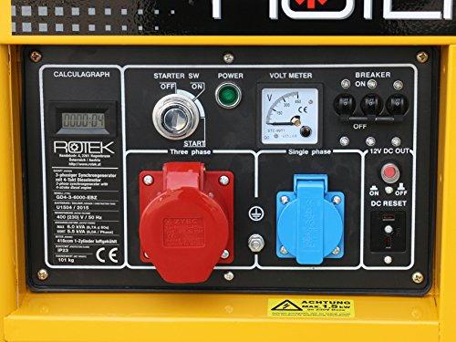 Rotek Diesel Stromerzeuger GD4-3-6000-EBZ - 3