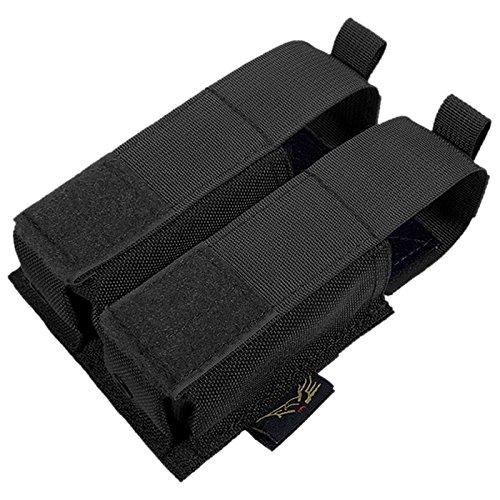FLYYE Doppel 9mm Pistole Magazintasche Ver. HP MOLLE Schwarz (Magazintasche Doppel-9mm)