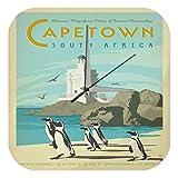 Wanduhr Abenteurer Wand Deko Capetown Südafrika Pinguine Leuchtturm Strand Acryl Dekouhr Retro