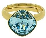Galaxy Jewellery Damen -  925 Sterling-Silber  Vergoldetes Silber Quadratschliff   blau Aigue-marine