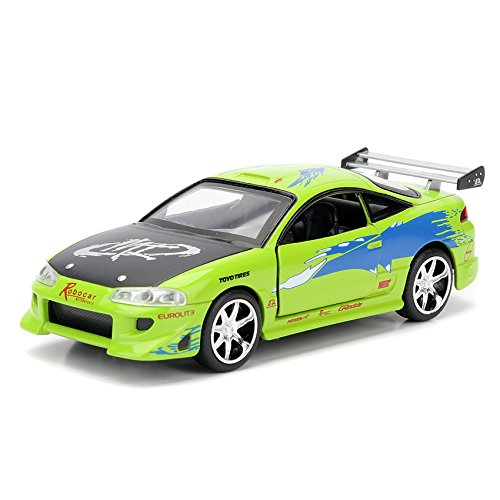 Jada 1:32 Fast & Furious Die-Cast Brian's Mitsubishi Eclipse Car Model Collection (13 Collection Eclipse)