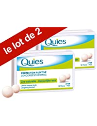 Quies - Boules Quies de Protection Auditive à la Cire Naturelle - Lot de 2 Boites de 24 Boules