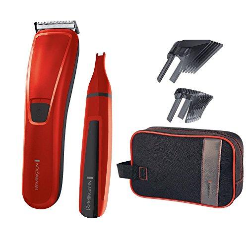 Remington HC5302 Haarschneider-Geschenkset PrecisionCut, inkl. Nasen- und Ohrenhaarschneider, rot