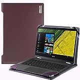Broonel London - Profile Series - Etui violet en cuir de luxe pour ordinateur portable pour Acer Spin 5