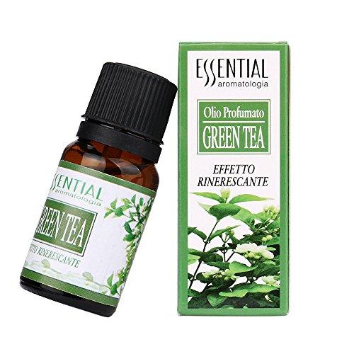 Ätherische Öle, 10ml Pure & Natural Ätherische Öle Aromatherapie Duft Hautpflege(Zitrone, Erdbeere, Lavendel, Sandelholz, Grüner Tee,Violett) - Ätherische Mischung Grüner Tee