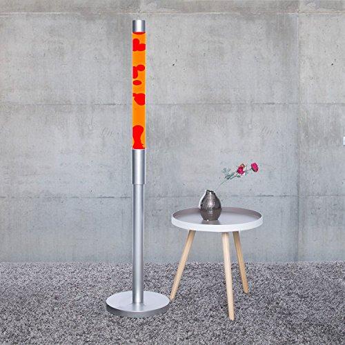 """XXL Lavalampe """"Paul"""" 1,28 m groß, Flüssigkeit orange, Wachs rot Lavalampen Lavaleuchte Magma Vulkan Lampen"""