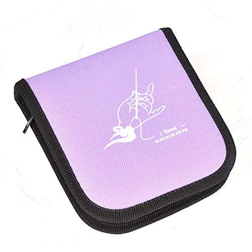 JUMP Nähzeug Portable Hand Box Set Nähzubehör Werkzeuge Tasche Perfekt Für Zuhause, Reisen Und Notfälle,Purple