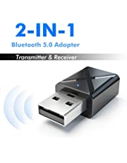 Leoie 2 in 1 Bluetooth 5.0 Transmitter Receiver 3.5mm Wireless Stereo Audio Adapter