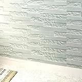 STRIR 1PCS Pegatina de Azulejos Ladrillo 60*60*0.78cm Más espeso 3D Pegatina de Pared Autoadhesivo Panel Pared Impermeable PE Espuma Decoración de pared (Azul claro)