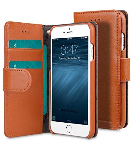 Melkco Wallet Case en cuir véritable Type de livre Premium avec l'emplacement 3 de la carte pour Apple iPhone 6s Plus / 6 Plus