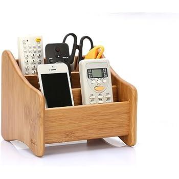 Schreibtisch-Organizer, PU-Leder, 7Fächer, multifunktionale Aufbewahrungsbox für Visitenkarten//Stifte//Bleistifte//Handy//Fernbedienung schwarz 7/F/ächer Homeself