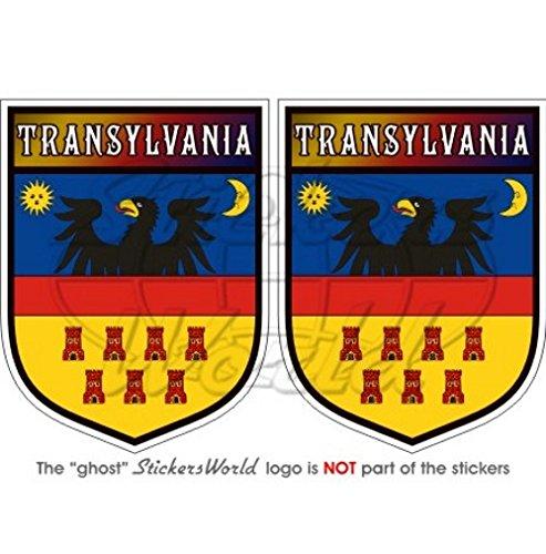 Siebenbürgen siebenbürgisches Shield Rumänien 75mm (7,6cm) Bumper Sticker, Aufkleber Vinyl X2