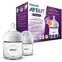 Philips Avent Philips Avent Natural Flasche, naturnahes Trinkverhalten, Anti-Kolik-System, transparent