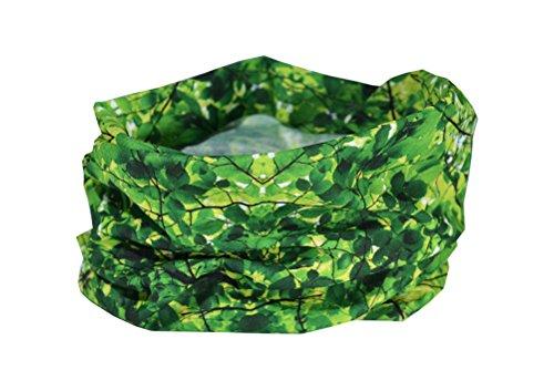 green-leaves-camouflage-design-ruffnekr-multifunctional-headwear-neck-warmer-for-men-women-children