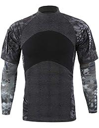 6862c9c2c Waotier Camiseta De Larga De Deportivas para Hombre Camiseta De Camuflaje  Deportivo Al Aire Libre para Hombre Ropa Hombre De…