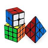 FAVNIC Speed Cube Set, Magic Cube 2x3 3x3 Pyramid Smooth Puzzle Cube Regalo para niños