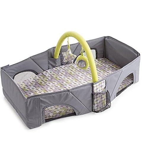 Baby sicheres Bett Baby Reise Klappbett Portable Krippe Grau Krippe (Pferd Neugeborene Krippe)