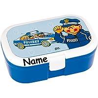 Preisvergleich für Lunchbox * POLIZEI plus WUNSCHNAME * für Kinder von Lutz Mauder // Polizist Brotdose mit Namensdruck // Perfekt für Mädchen & Jungen // Vesperdose Brotzeitbox Brotzeit (mit Namen)