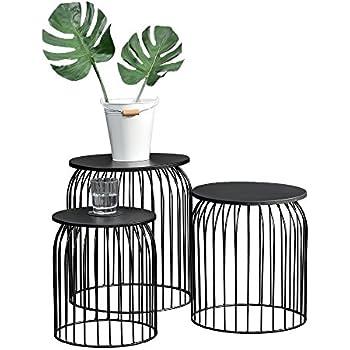 stylischer metallkorb im 3er set design. Black Bedroom Furniture Sets. Home Design Ideas