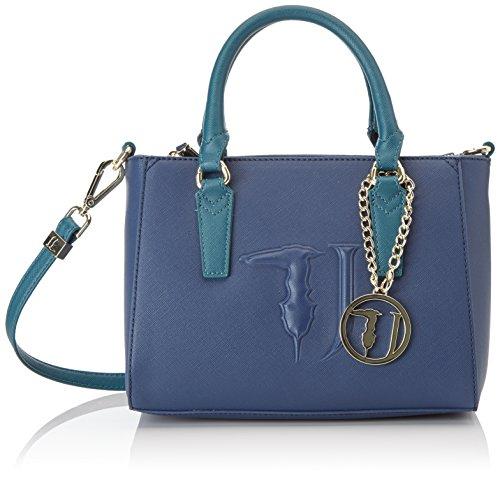 Trussardi Jeans Ischia Mini, Borsa a Tracolla Donna, 25 x 20 x 15 cm (W x H x L) Blu (Blue/Green)