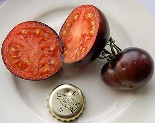 Acecoree Samen Haus- Bio-Cherrytomate Fleischtomate Tomatensamen schwarz fruchtig Tomato Seeds