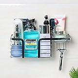 Lonior Duschkorb Duschablage Ohne Bohren Wiederverwendet Selbstklebender Rostfreier Stahl Duscheckregal für Duschzubehör ( 30 *13*18cm)