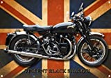 VINCENT BLACK SHADOW MOTORCYCLE METAL SIGN.