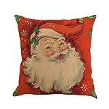 Sunnywill Impression de Noël Canapé-lit Décorations D'intérieur Taie d'oreiller, Taie d'oreiller en Lin Imprimé de Noël