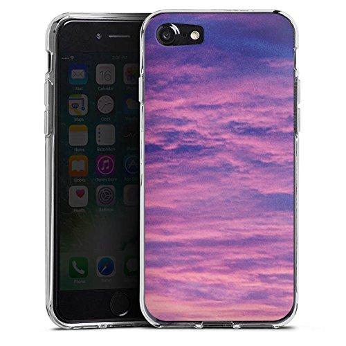 Apple iPhone X Silikon Hülle Case Schutzhülle Lila Wolken Himmel Silikon Case transparent