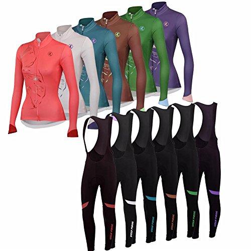 Uglyfrog 2018 Radsport Anzüge Damen Long Trikots with Lange Bib Hosen Gel Pad Spring Triathlon Clothes