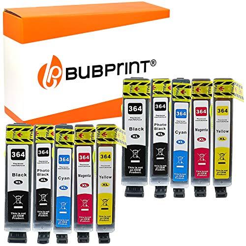 Bubprint 10 Druckerpatronen kompatibel für HP 364XL 364 XL für PhotoSmart 7510 7520 e-All-in-One B8550 C5380 C6380 D5460 Premium C309g C310a C410b