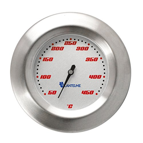 Lantelme 5122 Model Racing Thermometer for Grill / Barbecue Smoker Oven / Smoker / Bimetal / analogue stainless steel BBQ Barbecue