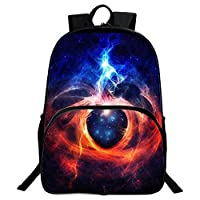 School Backpack, Unisex Fashion Galaxy Pattern School Bags College Casual Laptop Rucksack for Teen Boys and Girls -F04