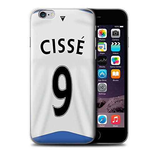 Offiziell Newcastle United FC Hülle / Case für Apple iPhone 6 / Pack 29pcs Muster / NUFC Trikot Home 15/16 Kollektion Cissé